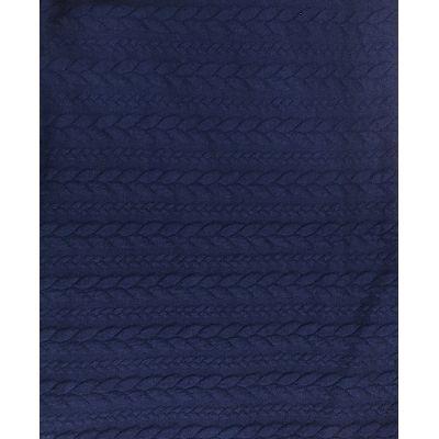 Жаккард  темно синий